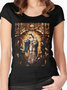 The Virgin Mary Women's Fitted Scoop T-Shirt