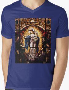 The Virgin Mary Mens V-Neck T-Shirt