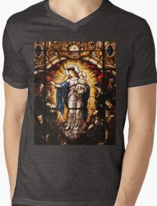 The Virgin Mary Mens V-Neck T-Shirt
