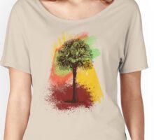 Grunge Palm Tree T-Shirt - Art Prints - Stickers Notebooks Women's Relaxed Fit T-Shirt