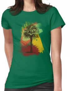 Grunge Palm Tree T-Shirt - Art Prints - Stickers Notebooks Womens Fitted T-Shirt