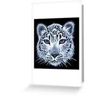 Snow leopard acrylic painting Greeting Card