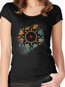 Love Vinyl Records - Music Art Prints with Grunge Texture - T-Shirt and Stickers Women's Fitted Scoop T-Shirt