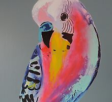Budgie by leahjettgallery