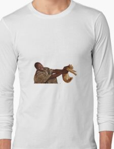 Man with Cat Long Sleeve T-Shirt