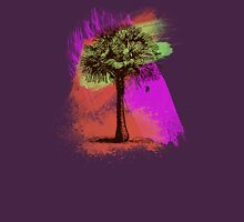 Grunge Palm Tree Summer T-Shirt Womens Fitted T-Shirt