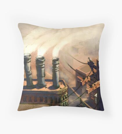Pollution Throw Pillow
