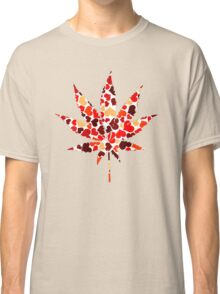 Love and Weed - Cannabis leaf with hearts Classic T-Shirt