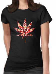 Love and Weed - Cannabis leaf with hearts T-Shirt