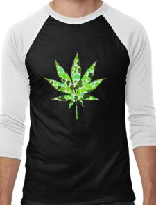 Love and Weed - Cannabis leaf with hearts Men's Baseball ¾ T-Shirt