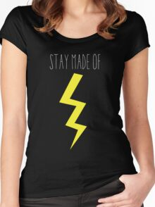 stay made of lightning Women's Fitted Scoop T-Shirt