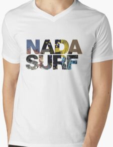 NADA SURF FONT ART WORK Mens V-Neck T-Shirt