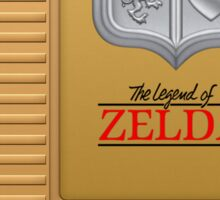 The Legend of Zelda Gold NES Cartridge Retro Gaming Sticker