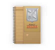 The Legend of Zelda Gold NES Cartridge Retro Gaming Spiral Notebook