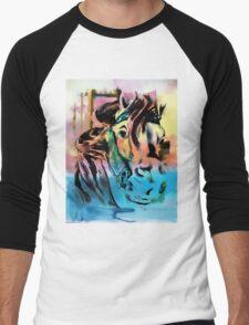 Carousel Horse Men's Baseball ¾ T-Shirt