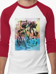 Carousel Horse Men's Baseball ¾ T-Shirt