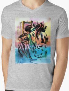 Carousel Horse Mens V-Neck T-Shirt