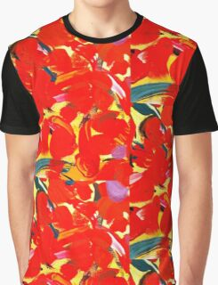 Red Petals Graphic T-Shirt
