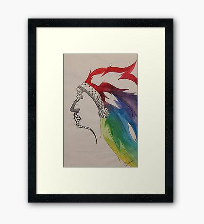 Rainbow Chief Framed Print