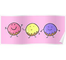 Happy donuts Poster