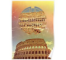 Geometric Colosseum Rome Italy Historical Monument Poster