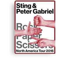 rock paper scissors tour 2016 didit Canvas Print