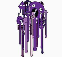 melting faces purple Unisex T-Shirt