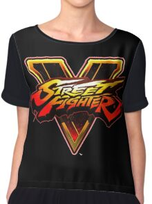 street fighter v logo nakula Chiffon Top