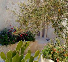Santorini Courtyard Sticker