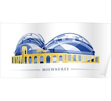 Milwaukee - Miller Park - Brewers Colors Poster
