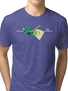 Hanging Peridot (textless) Tri-blend T-Shirt