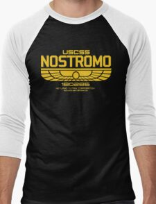 USCSS Nostromo Logo Alien Movie T-shirt Men's Baseball ¾ T-Shirt