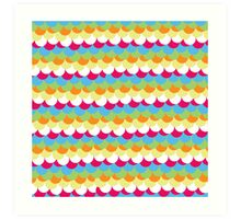 Organic Pattern Rainbow Art Print
