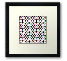 Coloured Abstract Pattern Framed Print