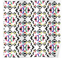 Coloured Abstract Pattern Poster