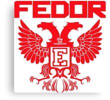 Fedor Emelianenko Last Emperor MMA Canvas Print