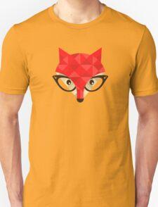 Hipster fox. T-Shirt