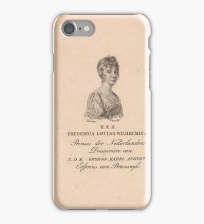 Frederica Louisa Wilhelmina (prinses van Oranje-Nassau), Willem van Senus,  iPhone Case/Skin