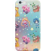 Chibi Sailor Moon Crystal Pattern iPhone Case/Skin