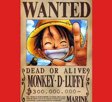 Monkey D. Luffy Wanted Poster Unisex T-Shirt