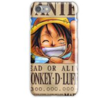 Monkey D. Luffy Wanted Poster iPhone Case/Skin