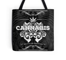 Cannabis Art Deco Retro Design Tote Bag