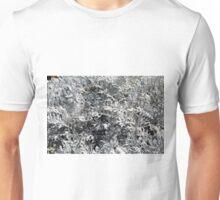 Light green gray leaves, natural pattern. Unisex T-Shirt