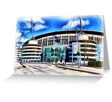 The Etihad Stadium Greeting Card