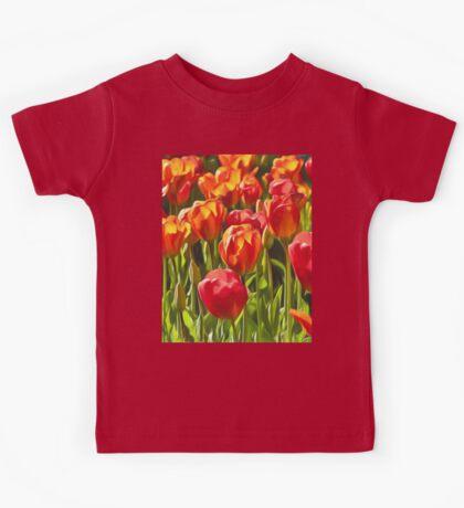 Artistic Tulips Kids Tee