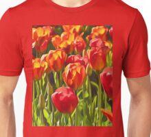 Artistic Tulips Unisex T-Shirt