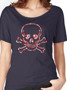 Skull with Hearts - Cool Skull Design Women's Relaxed Fit T-Shirt