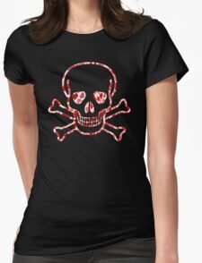 Skull with Hearts - Cool Skull Design T-Shirt