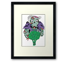Vegan Zombie Framed Print