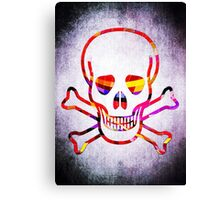 Cool Skull with Colors Palette Canvas Print